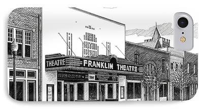 Main Street In Franklin iPhone Cases