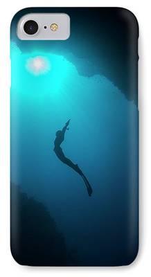 Free-diver iPhone Cases