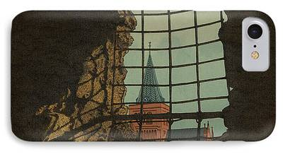 Cathedral Rock Mixed Media iPhone Cases