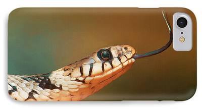Snake Digital Art iPhone Cases