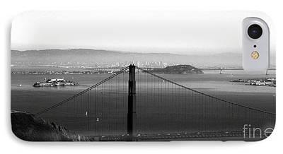 Bay Bridge Mixed Media iPhone Cases
