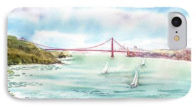 Sausalito Paintings iPhone Cases