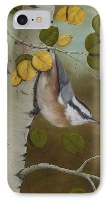 Bird Paintings iPhone Cases