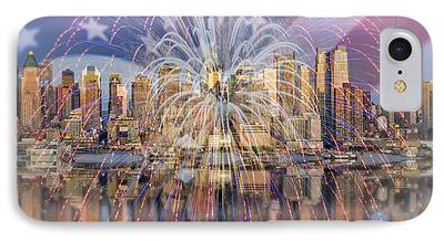Independance Day Digital Art iPhone Cases