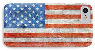 Patriotic Digital Art iPhone Cases