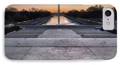 Lincoln Speech Digital Art iPhone Cases