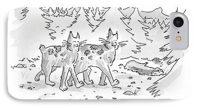 Bobcats Drawings iPhone Cases