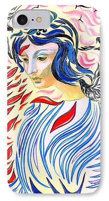 Spiritual Portrait Of Woman iPhone Cases