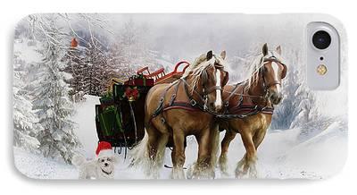 Snow Scene Digital Art iPhone Cases