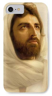 Jesus Christ Digital Art iPhone Cases