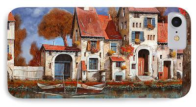 Village Paintings iPhone Cases