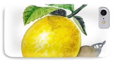 Lemon Art iPhone Cases