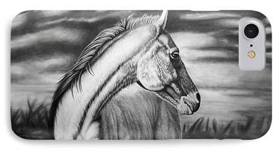 Horse Drawing iPhone Cases