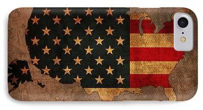 America Mixed Media iPhone Cases