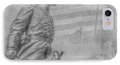Statue Of Confederate Soldier iPhone Cases