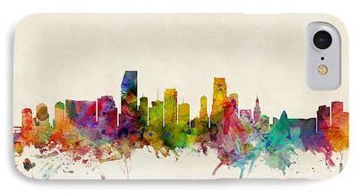 Miami Digital Art iPhone Cases