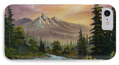Sawtooth Mountain Paintings iPhone Cases
