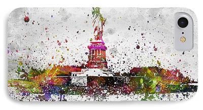 City Scape Digital Art iPhone Cases