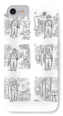 Sweating Drawings iPhone Cases
