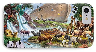 Leopard Digital Art iPhone Cases