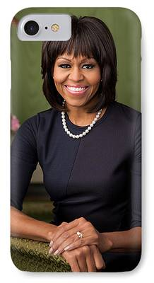 Michelle Obama Photographs iPhone Cases