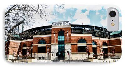 Baseball Stadiums Digital Art iPhone Cases