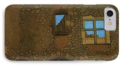 Ruins Mixed Media iPhone Cases