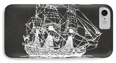 Pirate Drawing iPhone Cases