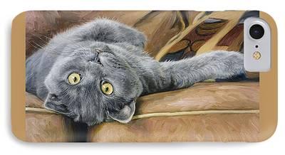 Domestic Short Hair Cat iPhone Cases