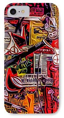 Robert Daniels Digital Art iPhone Cases