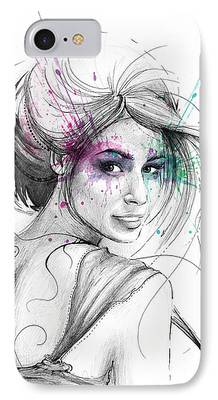 Pretty Mixed Media iPhone Cases