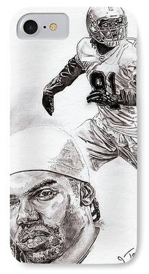 Randy Moss Drawings iPhone Cases