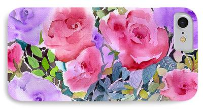 Pinks And Purple Petals iPhone Cases
