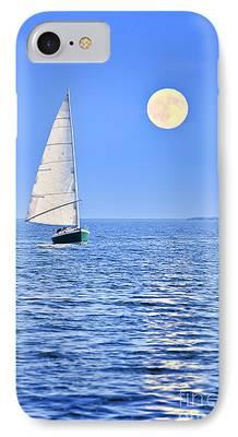 Blue Sailboat iPhone Cases