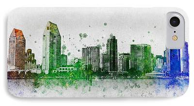 Buildings Mixed Media iPhone Cases
