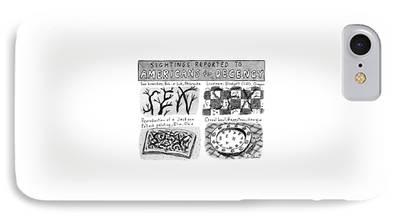 Linoleum Drawings iPhone Cases