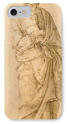 St John The Evangelist Drawings iPhone Cases