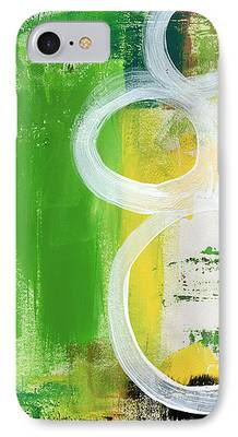 Abstract Expressionism Mixed Media iPhone Cases