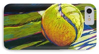 Tennis Paintings iPhone Cases