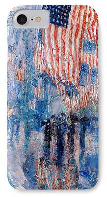 Fourth Of July Digital Art iPhone Cases