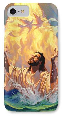 Christian work Paintings iPhone Cases