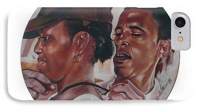 Michelle And Barack Obama - Campaign Year iPhone Cases