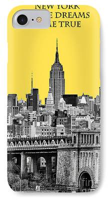 Yellow And Black iPhone Cases
