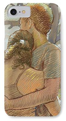 Young Drawings iPhone Cases