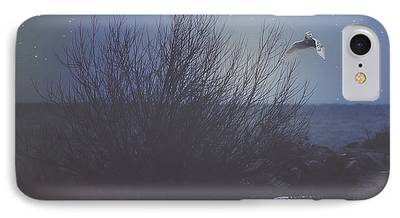 Snowy Night Photographs iPhone Cases