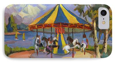 Carousel Horse Paintings iPhone Cases