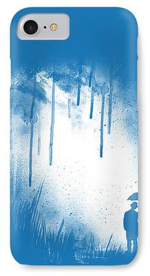 Umbrella Digital Art iPhone Cases
