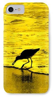 Sea Birds Digital Art iPhone Cases