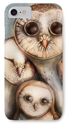 Baby Bird Digital Art iPhone Cases