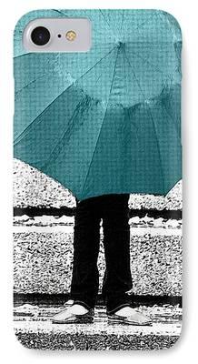 Rainy Day Digital Art iPhone Cases